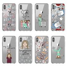 Fashion Spain Cartoon Medicine Doctor Nurse soft silicone Phone Cases Cover For iPhone 11 12 Pro Max 5S 6S 7 8 Plus XS XR XS Max