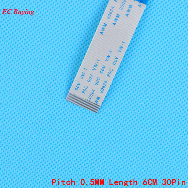 FFC/FPC Fleksibel Flat Cable Arah Sebaliknya Pita Datar Kabel LCD Kabel 30Pin 0.5mm Panjang Lapangan 6 cm 30 Pins 5 Pcs