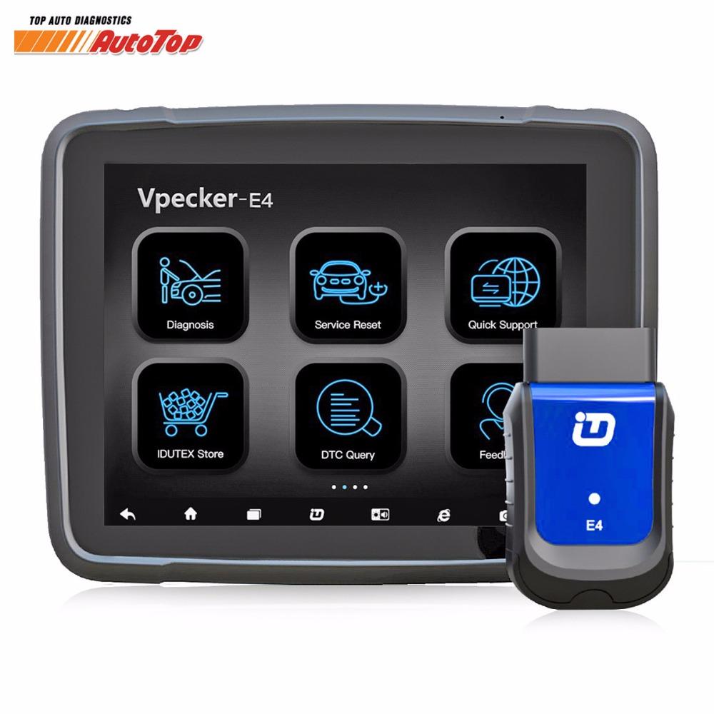 2018 Vpecker E4 OBD2 Wifi/Bluetooth OBD 2 Automobile Scanner + 8 pouce Android Vpecker Tablet ODB 2 Autoscanner outils de Diagnostic