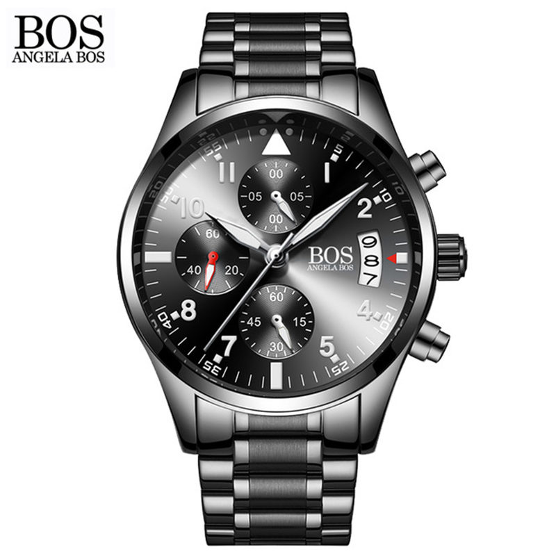 Zegarki Meskie 2018 Top Brand Business Watch Men Luxury Calendar Luminous Quartz Watches Fashion Stainless Steel Wristwatches