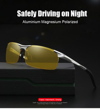 7b8d3670b9 Super Light Aluminum Magnesium Frame Polarized Sunglasses Men Semi-Rimless  Rectangle UV400 Mens Sun Glasses Night Vision Goggles