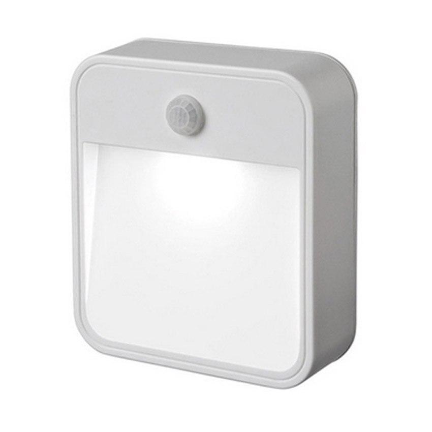 Портативный <font><b>LED</b></font> Беспроводной движения Сенсор Ночные светильники 1 <font><b>LED</b></font> 12 люмен Батарея питание крыльцо лампа для прихожей путь wc ночник