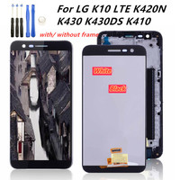 For LG K10 LTE K420N K430 K430DS K410 LCD Display TouchScreen Digitizer Assembly with Bezel Frame For LG K10 LTE LCD Replacement
