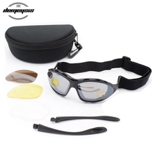 Tactical Sunglasses UV400 Military Glasses TR90 Army Sunglasses Paintball Airsoft CS Google Windproof Eyewear