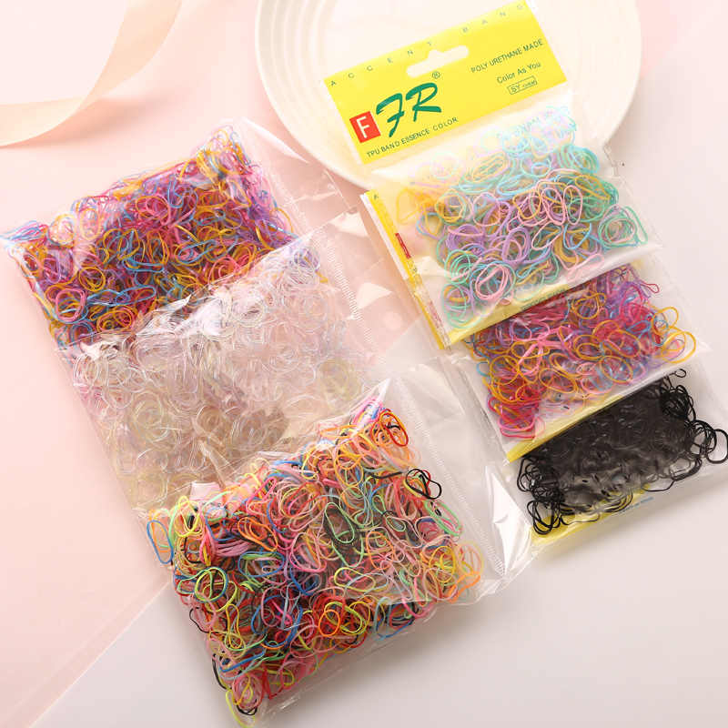 1000 pieces bag Child Baby TPU Hair Holders Rubber Bands Elastics Girl/'s Tie