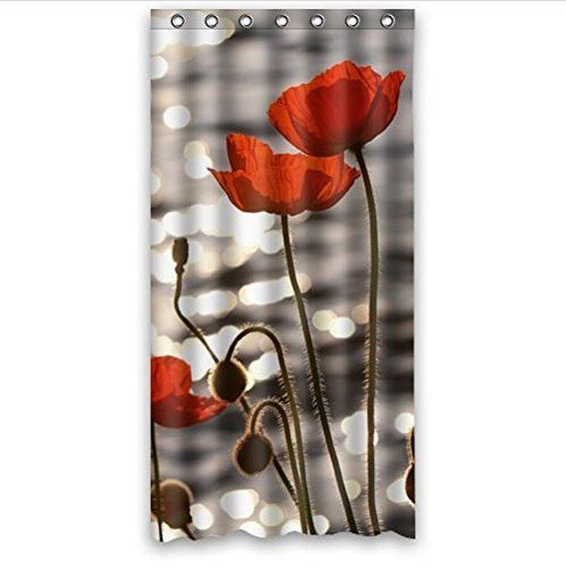 Curtains Ideas 36 wide shower curtain : Aliexpress.com : Buy Beautiful poppy flower art Polyester Shower ...