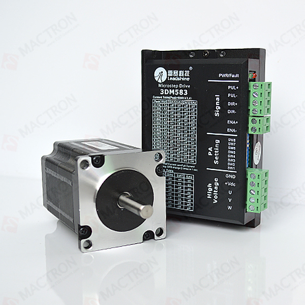 ФОТО 3 Phase Laser Stepping Motor Driver 3DM583 and 3 Phase 573S15 Laser Stepper Motor for Co2 Laser Engraving Machine