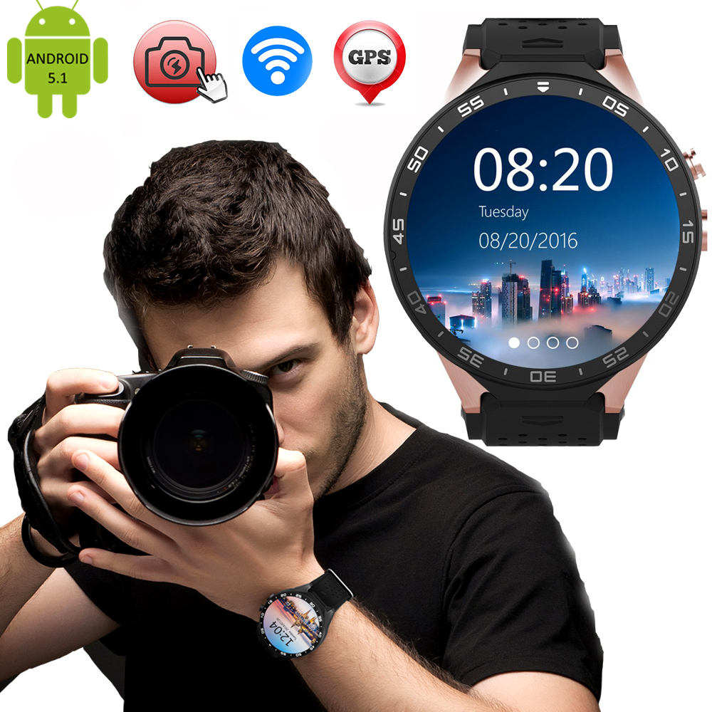 "MTK6580 KW88 Men Women Smart Watch For Android and IOS Bluetooth Smartwatch 1.39"" HD Screen Wrist Bracelet For Iphone Xiaomi"