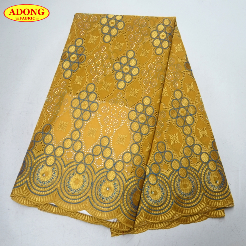 African Cord Lace Fabrics with Rhinestones High Quality Nigeran style Swiss Voile Lace in Switzerland 5