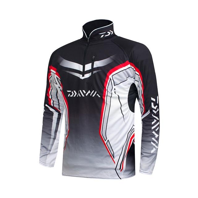 Professional Brand Fishing Clothes 2020 New Daiwa Fishing Shirt Breathable Quick Dry Anti UV Long Sleeve Fishing Clothing