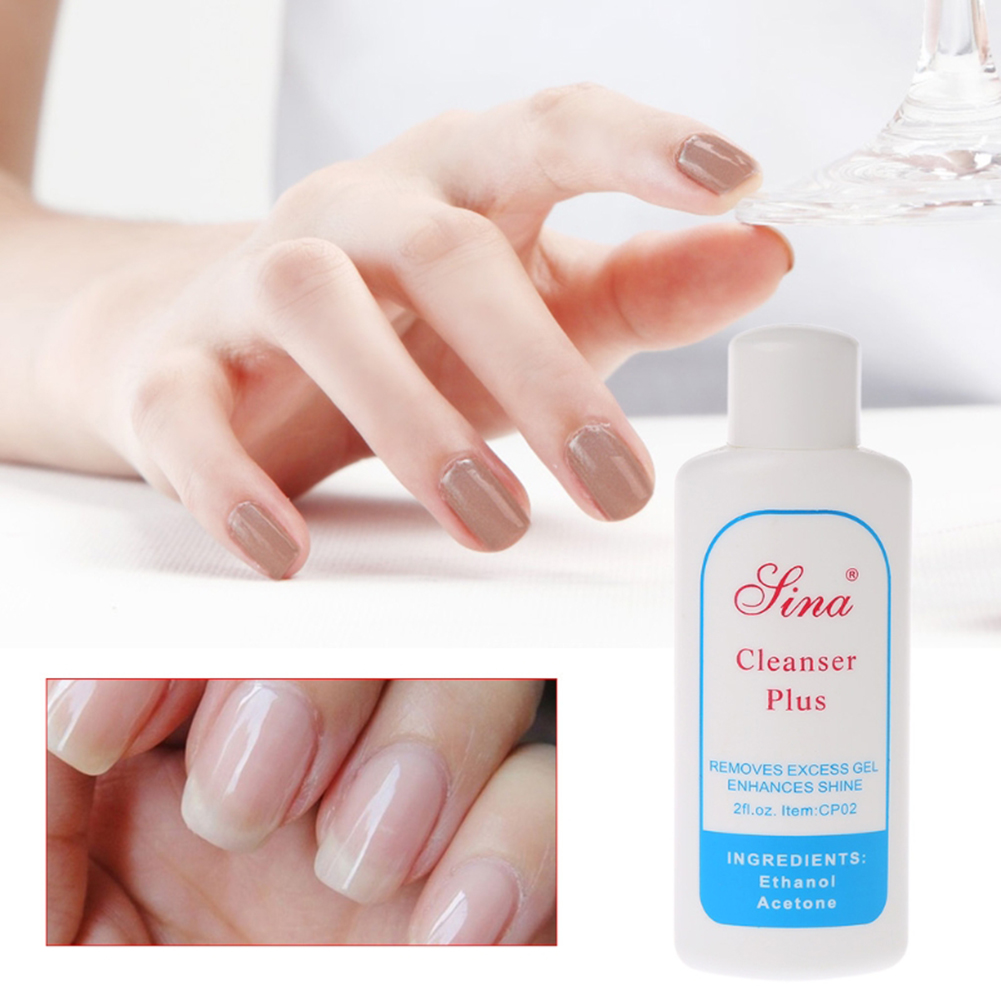 60ml Removes Excess Nail Gel Polish Enhances Shine Cleanser Gel Remover Solvent Cleaner UV Nail Art Liquid Clean Degreaser TSLM2