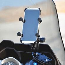 """Moto 1 """"base de montage de pompe de moto à bille en caoutchouc + bras de prise de tête à bille + support pour téléphone portable x grip universel pour téléphone GPS"""