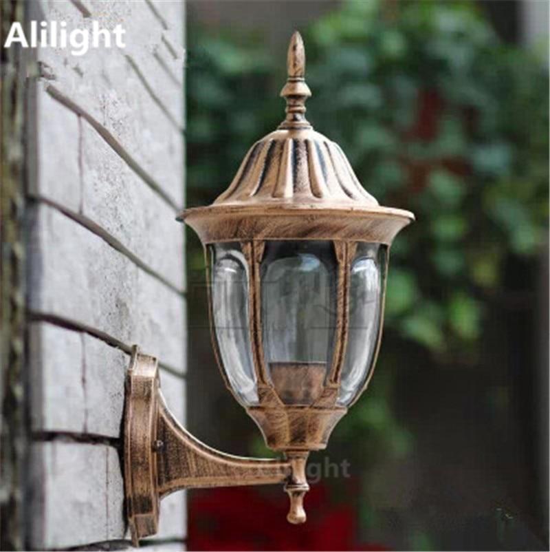 Black/Bronze Outdoor Lighting Led Porch Lights Fitting Antique Garden Porch Lamp  Exterior Balcony Wall