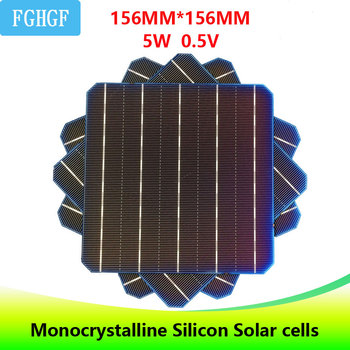 30Pcs 5BB 5W 0.5V high Effciency  6x6 Photovoltaic Monocrystalline Silicon Solar Cells  For DIY solar charger painel solar