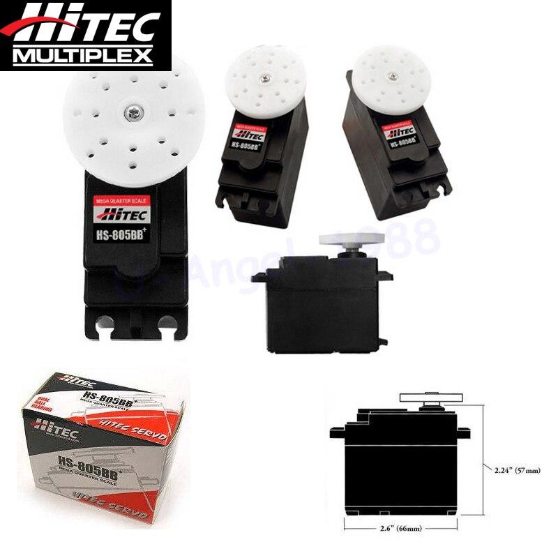 Оригинальный Hitec HS-805BB + 152 г/24,7 кг/. 14 сек основной высокий крутящий момент servo/HS-805BB Аналоговый сервопривод
