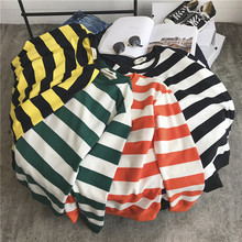 Spring New Hoodies Men Fashion Striped Casual O-neck Sweatshirt Man Streetwear Trend Wild Hip Hop Loose Pullover Hoody S-2XL