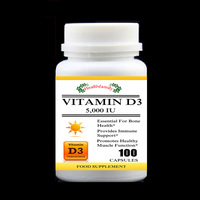 5 000IU Vitamin D3 Cholecalciferol Essential For Bone Growth Provide Immune Support Muscle Gowth 100pcs Bottle