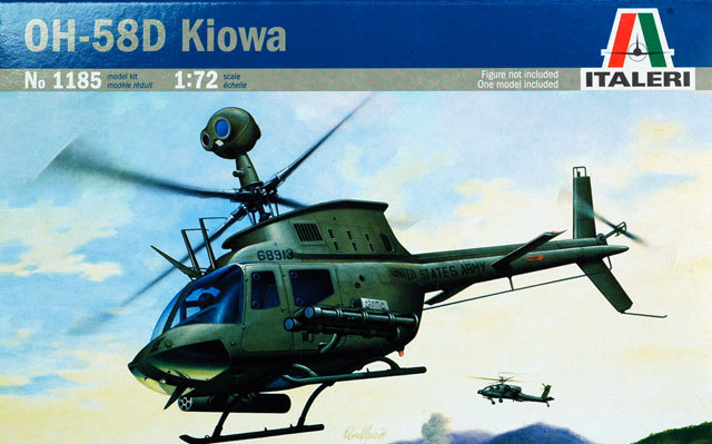 Italeri 1:72 OH-58D Kiowa Model Helicopter Kit 1185 Military Aircraft