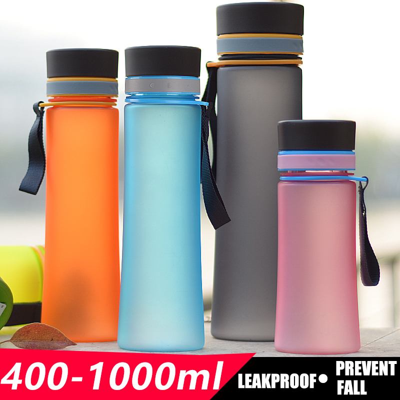 400ml-1000ml Tritan Material Portable Water Bottle Leakproof My Sport Shaker Bottles Camping Kettle BPA Free