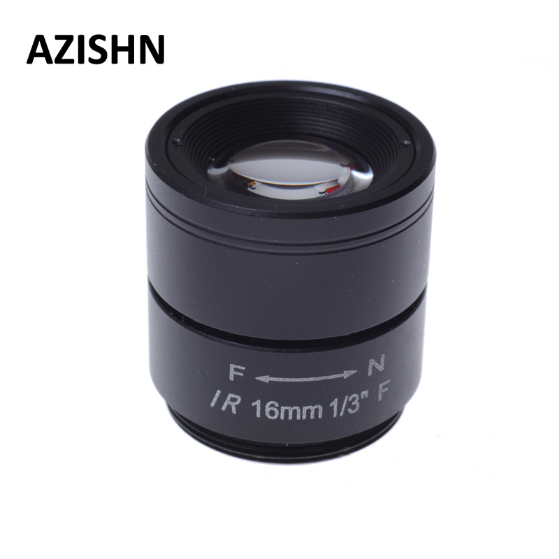 CCTV LENS 1/3 F CCTV Fixed Iris IR Infrared 16mm CS Mount Lens For Security CCTV Camera