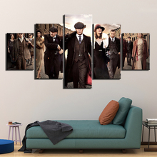 5 Panel HD print Painting peaky blinders Canvas Wall Art piece movie poster Picture Home Decoration Print F2939