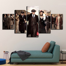 5 Panel HD print Painting peaky blinders Canvas Wall Art 5 piece movie poster Picture Home Decoration Print F2939(China)