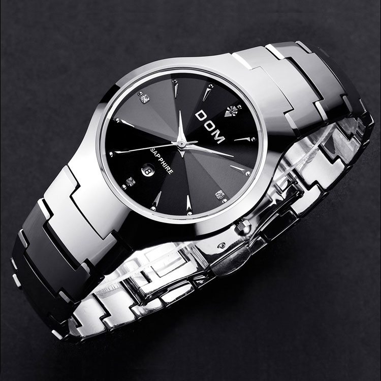 HK DOM Luxury Top Brand Men s Watch tungsten steel Wrist Watch waterproof Business Quartz watch