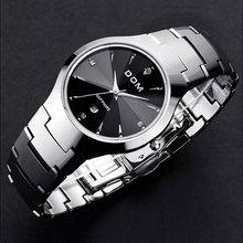 Hk dom de luxe top marque hommes de montre bracelet en acier de tungstène montre étanche entreprise montre à quartz mode casual sport montre