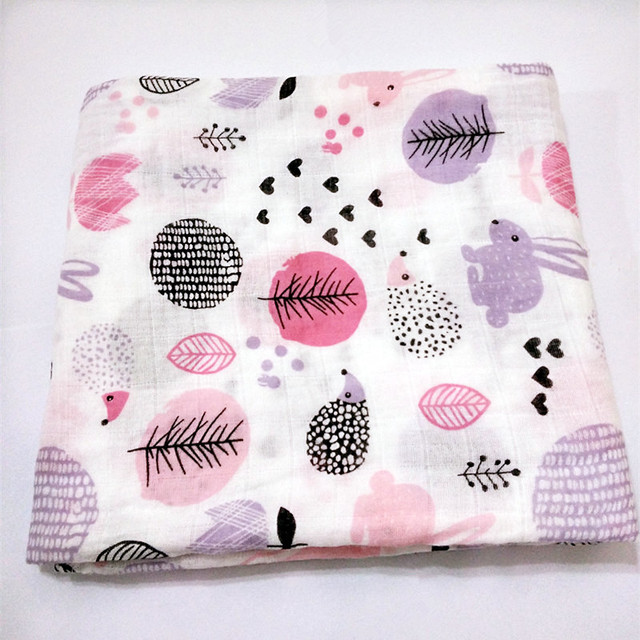 Miracle Muslin Swaddle Blanket Newborn Baby 100%Cotton muslin blanket bedding 100*140cm Gauze Swaddle Bath Towel Multifunctional