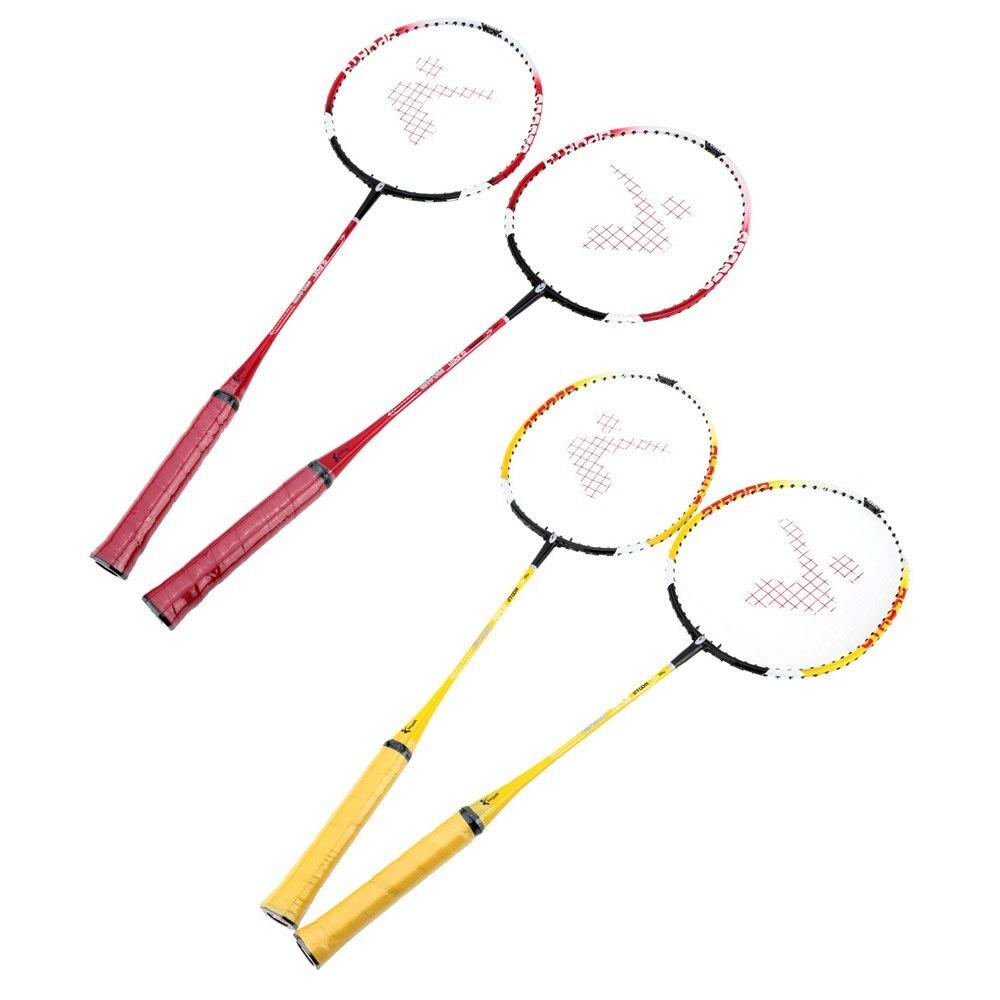 Lightweight 2Pcs/Set Training Badminton Racket Racquet With Carry Bag Badminton Set Sport Equipment