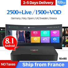Leadcool Pro IUDTV IPTV subscription Europe Box RK3229 1G 8G Android 8.1 with IPTV Italia Sweden Arabic Poland Spain IP TV