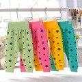 Comercio al por mayor de Alta Calidad Impresa Pentagrama Cintura Bebé Del Vientre de Protección de Archivos Abiertos Pantalones Unisex Niños Niñas Leggings Pantalones de Algodón