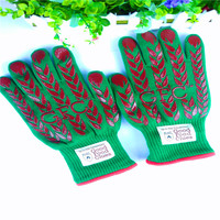 Lingchen Heat Resistant Silicone bbq glove Cooking Gloves factory direct supply oven gloves kitchen gloves