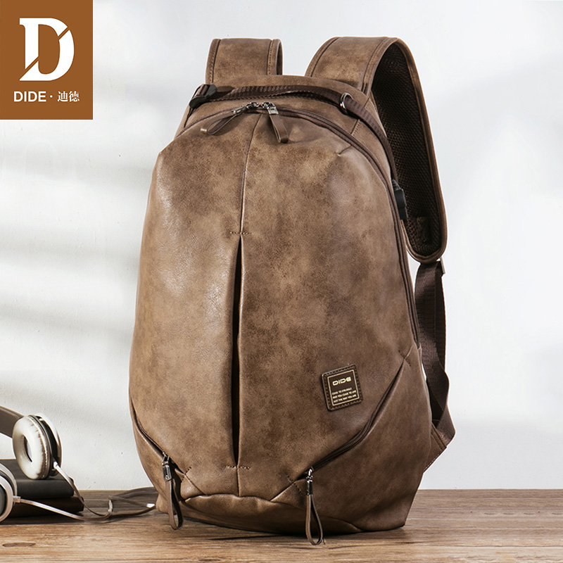 Dide Usb Charging 15.6 Inch Laptop Backpacks For School Bag Male Mochila Vintage Casual Leather Travel Backpack Bag Men 2018