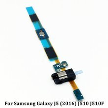 For Samsung Galaxy J5 (2016) J510 J510F Home Button Earphone Jack Flex Cable Replacement Parts