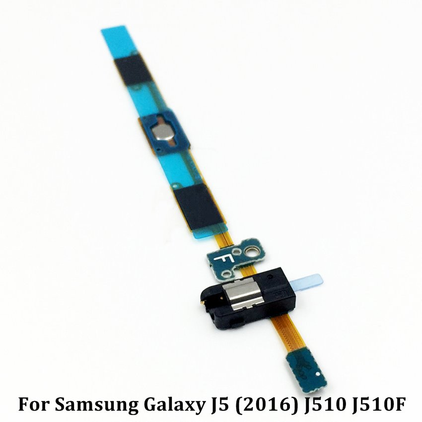 For Samsung Galaxy J5 (2016) J510 J510F Home Button Earphone Jack Flex Cable Replacement Parts image