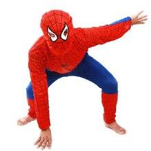 Паук человек-паук устанавливает косплей компл. наборы длинным пижамы ребенок детская рукавом