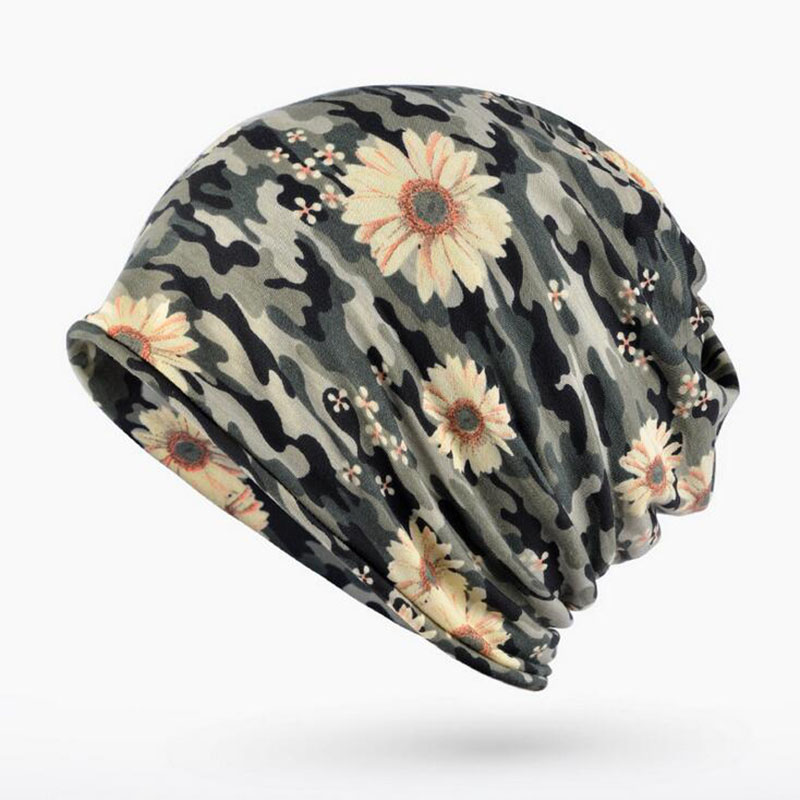 Brand High quality printing Cap Men Women   Skullies     Beanies   Knitting Caps Bonnet Double Layer Thin Cotton Hat Autumn Winter hats