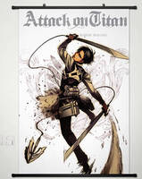 Home Decor Anime Attack On Titan Wall Scroll Poster Fabric Painting Levi 141