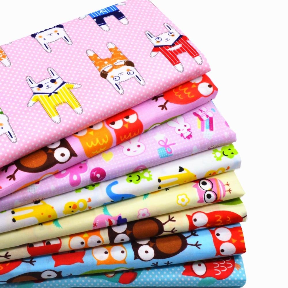 8ks 40 * 50cm Barevná kreslená bavlněná tkanina Mey Diy Ruční - Umění, řemesla a šití