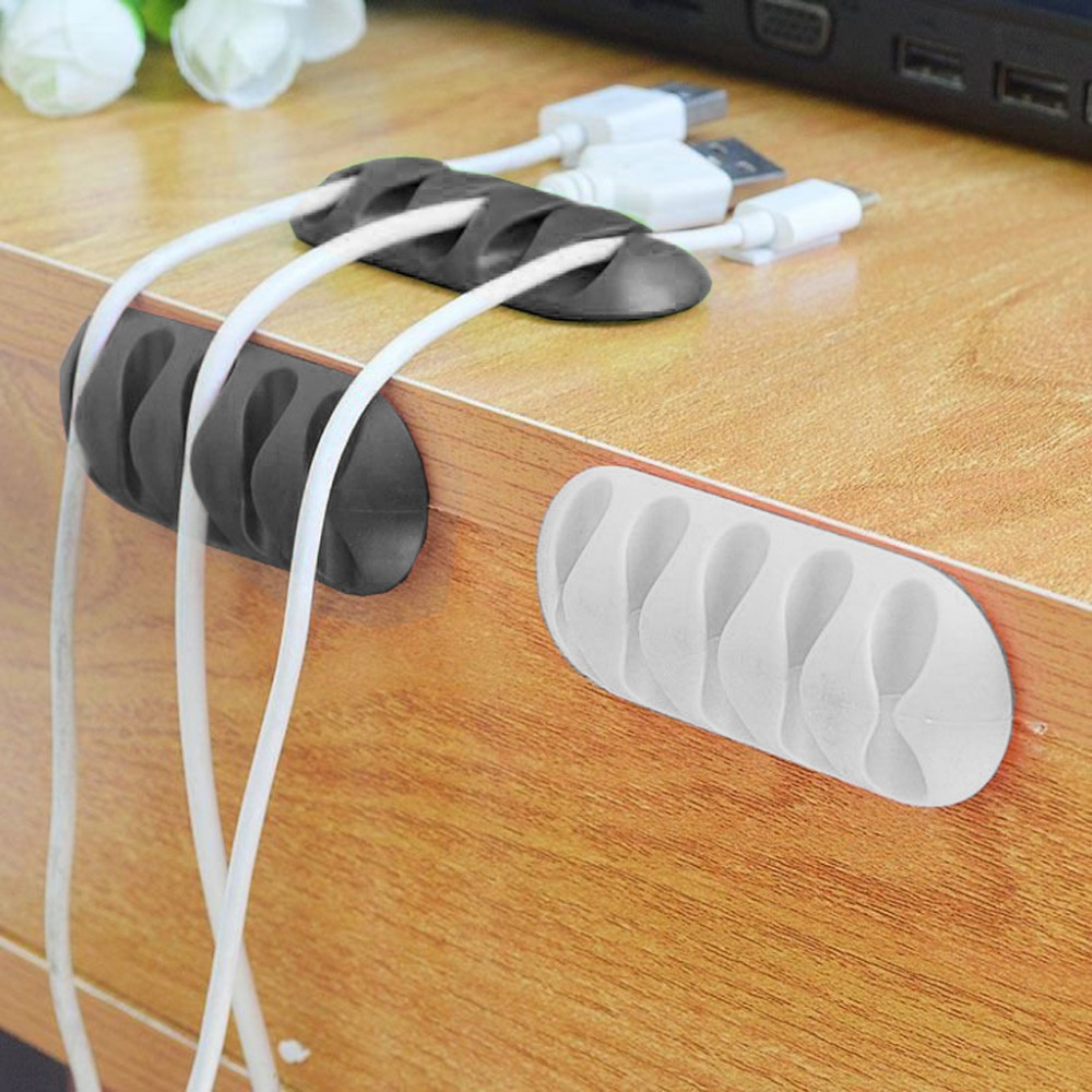 Digital Cables Chunghopnew Hottest 5-clip Tpr Earphone Cable Winder Organizer Charger Cable Protector Holder Cover Case Fixing Device