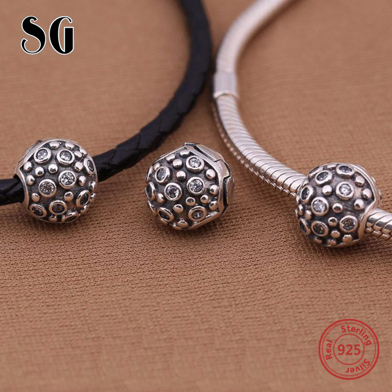 925 zilveren charme clip Fit originele Europese Charms armband met - Mode-sieraden - Foto 5