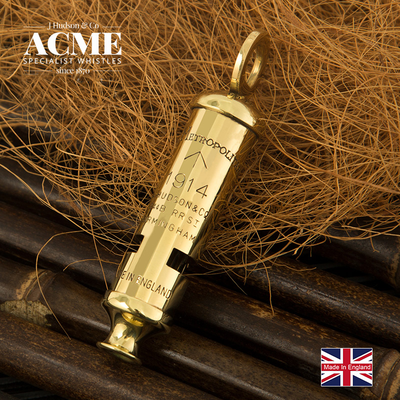 British Original ACME1914 Metal Survival Whistle Fashion Necklace Pendant Collection Whistle Sound Clear Loud Survival Whistle