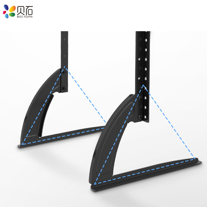 "BEISHI Universal TV Stand Base For 32''-65"" Plasma LCD Flat Screen Height Adjustable Monitor Mount Bracket Load Up To 50 kg 5"