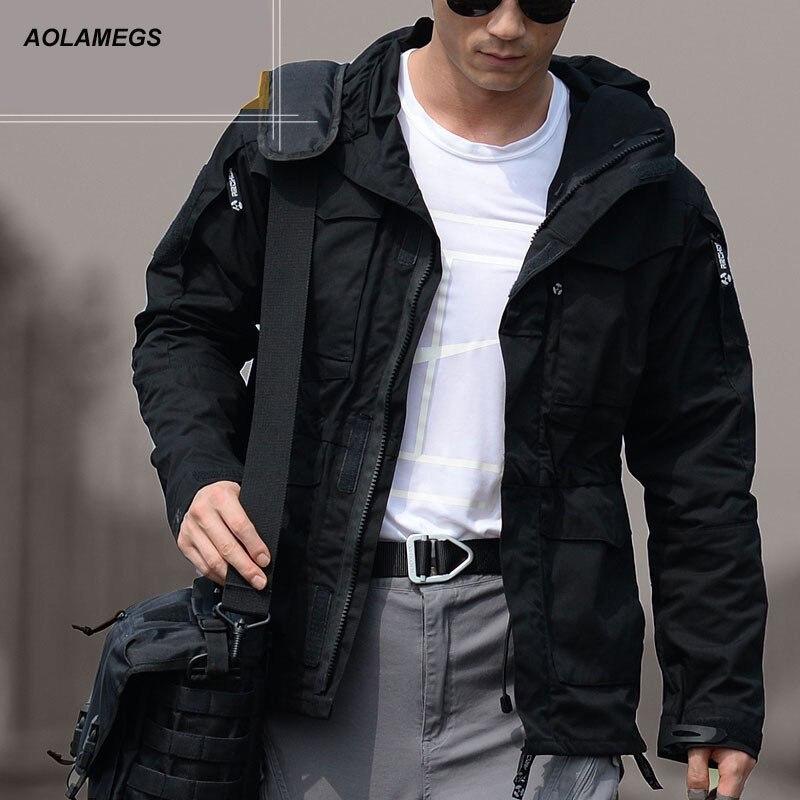Aolamegs font b Men b font Tactical Jacket M65 UK US Army Clothes Windbreaker Casual Flight