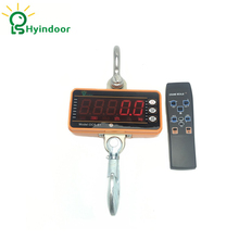 1t Smart Type LED Display High Accuracy Electronic Weighing Scales Digital Hanging Hook Crane Scale With Remote