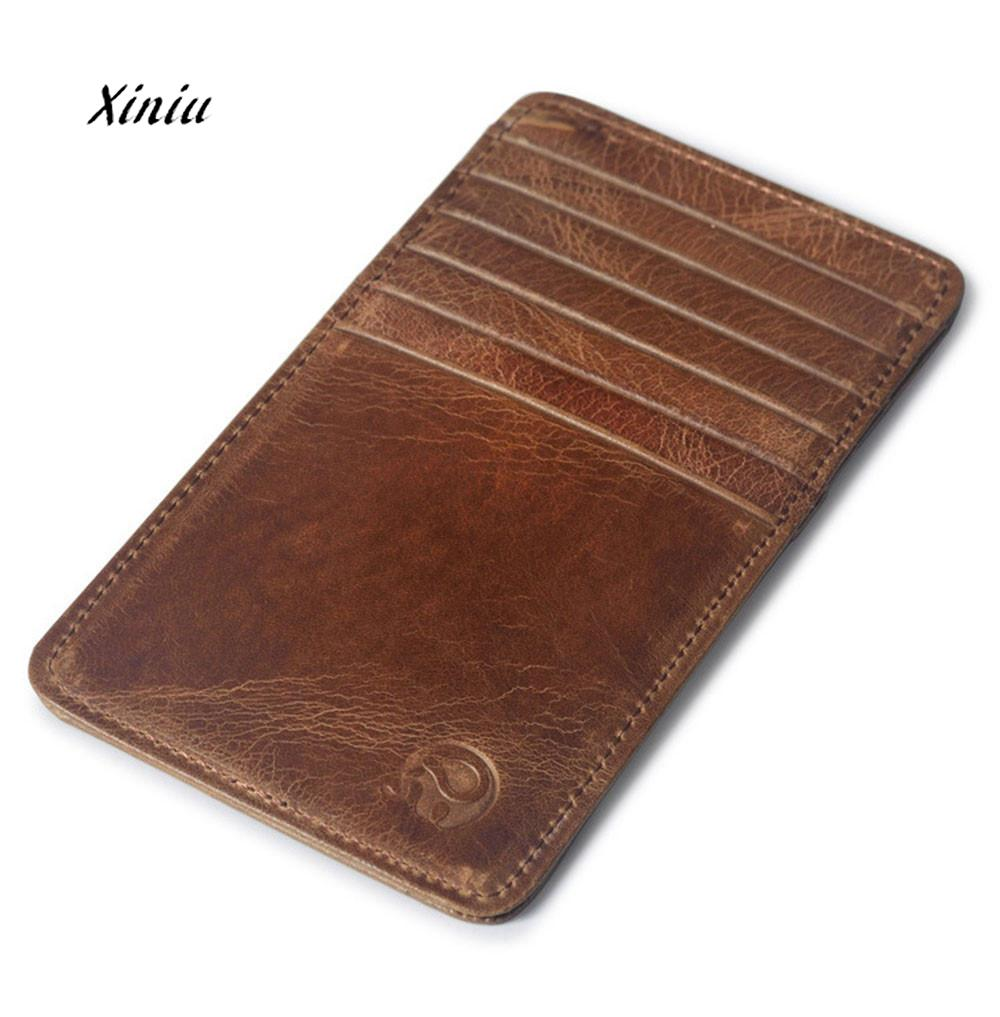 1PC Men Business Wallet Slim Credit Card Holder Mini Wallet ID Case Purse Bag Pouch High Quality Brand Small Card Wallet