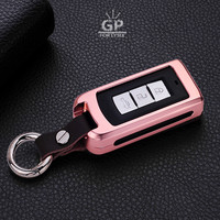 3 Colors Aluminum Alloy Smart Remote Car Key Case Cover Shell Holder Protector Fit For Mitsubishi