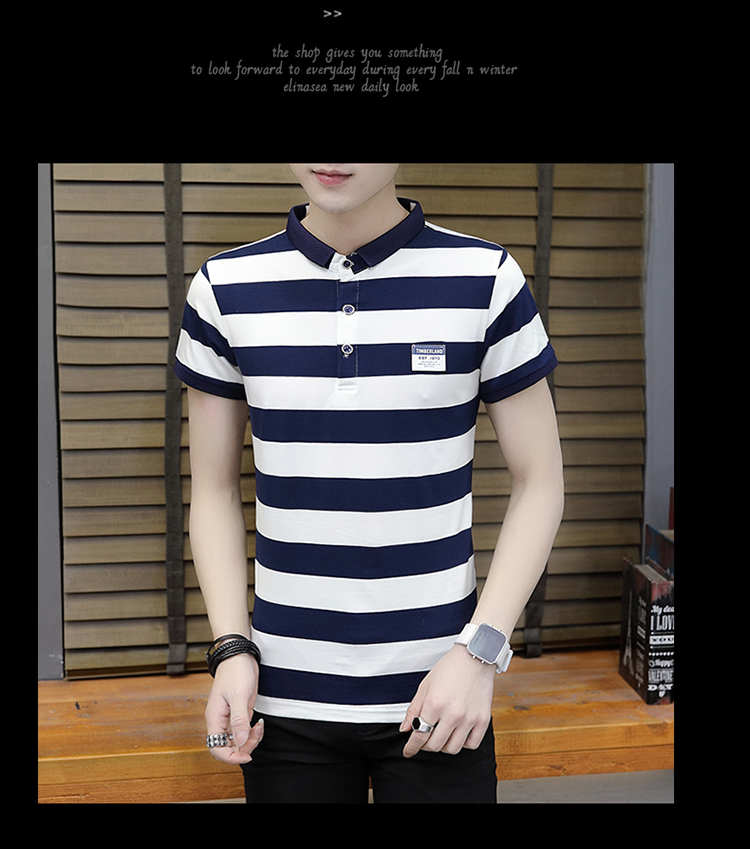 New summer high quality striped short sleeve polo shirt men brand clothing fashion Korean casual slim fit male camisa 9018Z 16