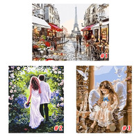 Frame DIY Digital Oil Painting By Numbers Paint Drawing Coloring Canvas Hand Painted Wall Home Decor